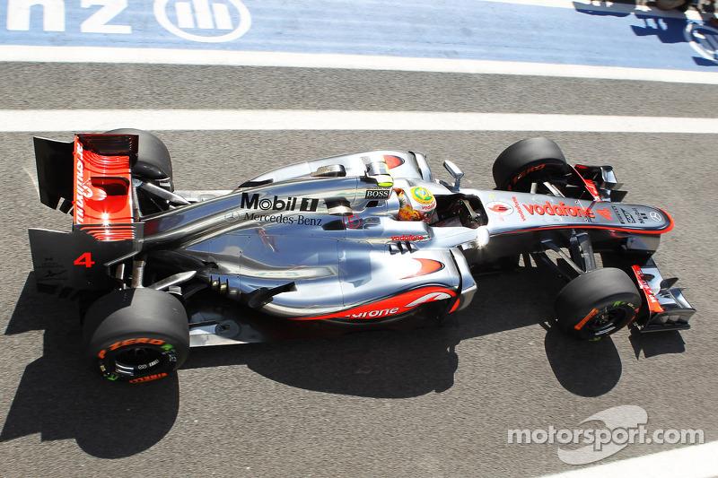 McLaren drivers occupied the front row to start Brazilian GP