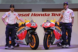 MotoGP Breaking news Repsol Honda presents 2013 rider line-up and livery to the world