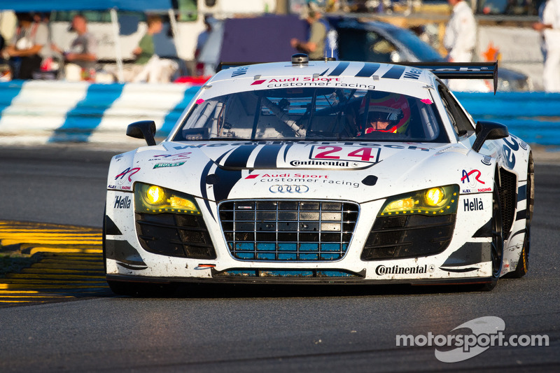 WeatherTech Racing Audi R8 second after 18 hours in Rolex 24 at Daytona
