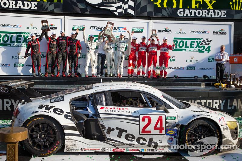 One-two victory for Audi customer teams at Daytona