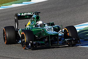 Formula 1 Testing report Van der Garde and Caterham CT03-05 day one on track