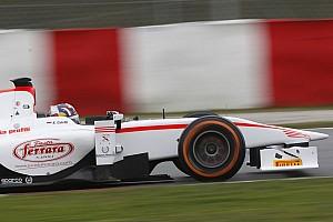 GP2 Testing report Coletti tops wet day 1 testing on Circuit de Catalunya