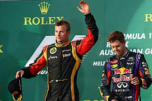 Formula 1 Race report Renault powers Lotus F1 Team and Raikkonen to Australian GP victory
