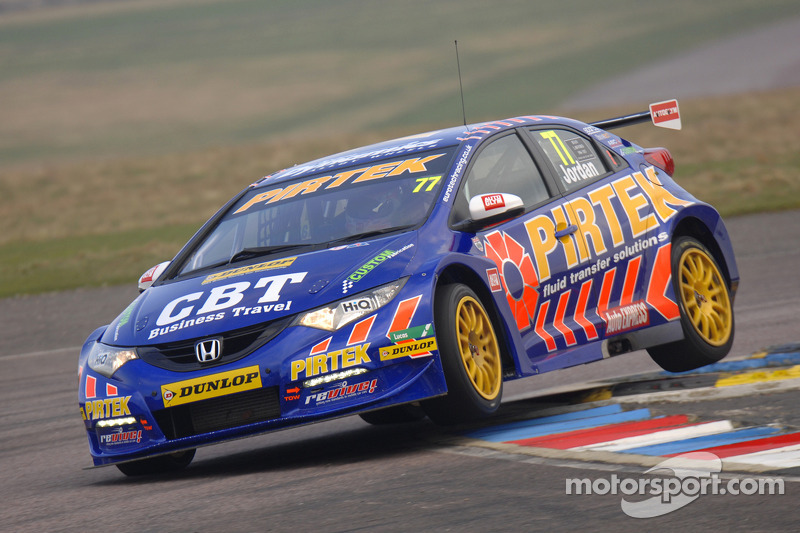Honda driver Jordan sets fastest lap of official test day at Donington Park