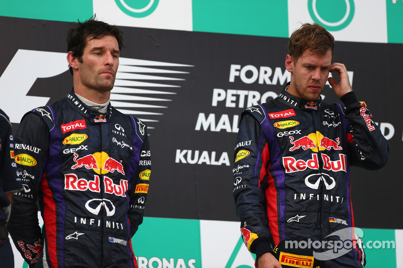 Vettel apologizes to Webber after late on-track battle at Sepang