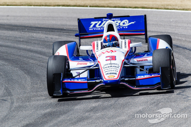 Penske Racing's Castroneves after Barber moved into first place in the series standings