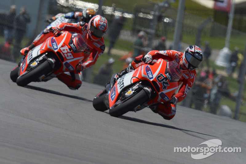 Second and fourth rows for Dovizioso, Hayden in Austin