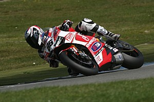World Superbike Qualifying report Ducati Alstare's riders to line up on the third, fourth and fifth rows at Donington