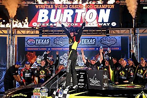 NASCAR Truck Race report Jeb Burton gets first-career win at Texas