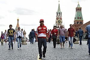 Formula 1 Breaking news Kobayashi discovers Moscow