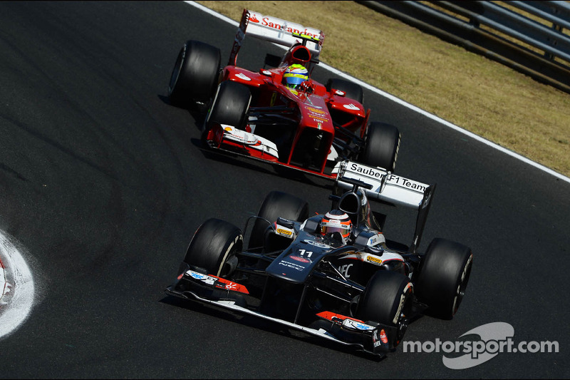 Sauber was not able to score points at the Hungarian Grand Prix