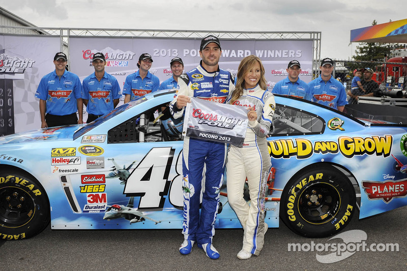 Johnson betters practice laps for pole at Pocono
