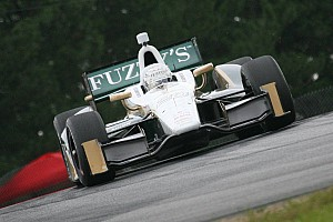 IndyCar Practice report Tough track conditions hinder Carpenter's laps friday in Mid-Ohio practice
