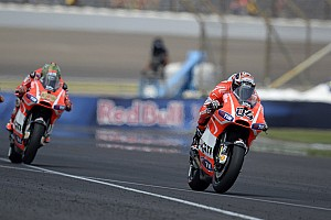 MotoGP Qualifying report Third row for Ducati Team in Silverstone qualifying