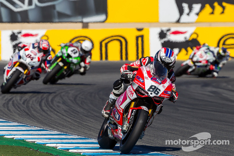 A disappointing race result for Team SBK Ducati Alstare in today's race at Laguna Seca