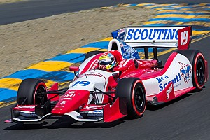 IndyCar Race report Justin Wilson charges to third Saturday in Houston