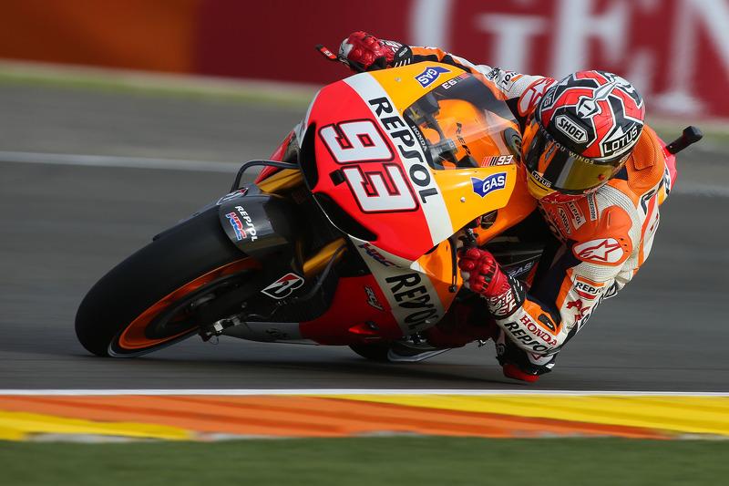 Marquez makes his mark in Valencia post-season test