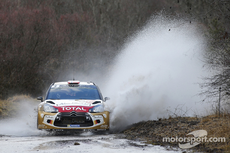 The Citroën drivers find their bearings on day one of Rally Sweden