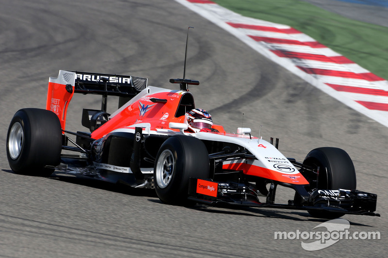 Fuel system problem disrupts Marussia second day test at Bahrain