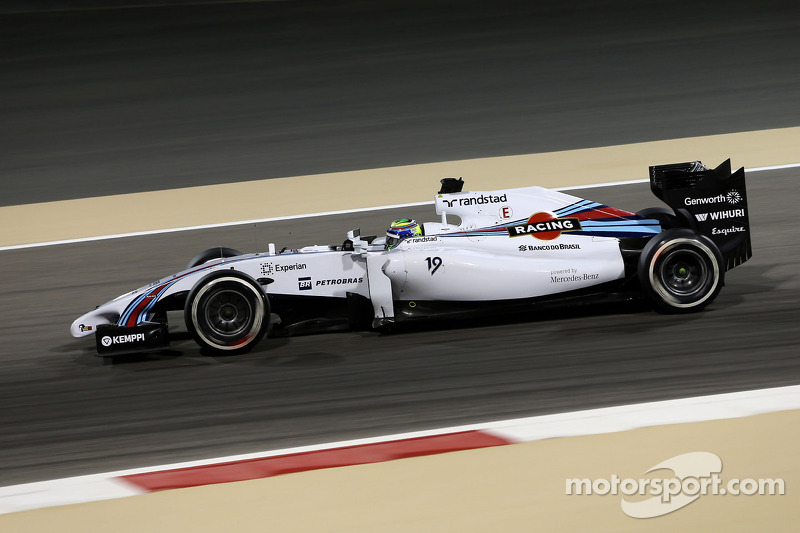 Williams practice with its three drivers on Friday at Bahrain