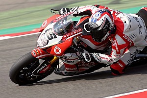 World Superbike Race report Weather disrupts team Bimota Alstare's progress