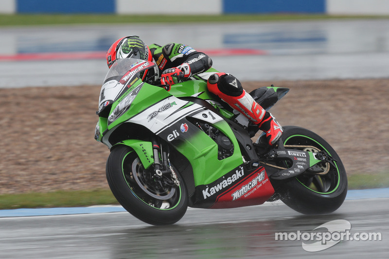 Sykes heads another Kawasaki 1-2 in race two at Donington