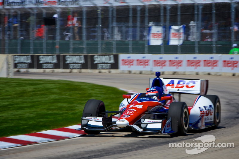 Pole winner Takuma Sato gets punted in Detroit race -- twice