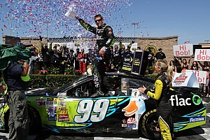 NASCAR Cup Race report Edwards secures maiden road course win at Sonoma