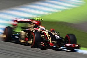 Formula 1 Practice report Lotus completes the first day of running at the Hockenheim