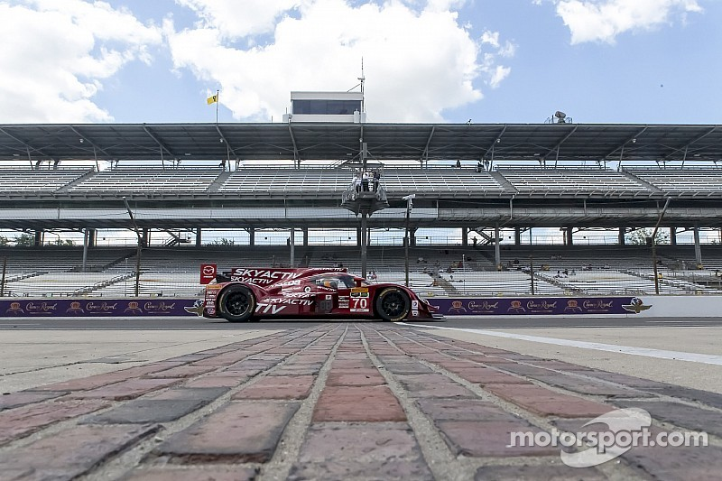 Mazda's road to the Brickyard Grand Prix has been full of twists and turns