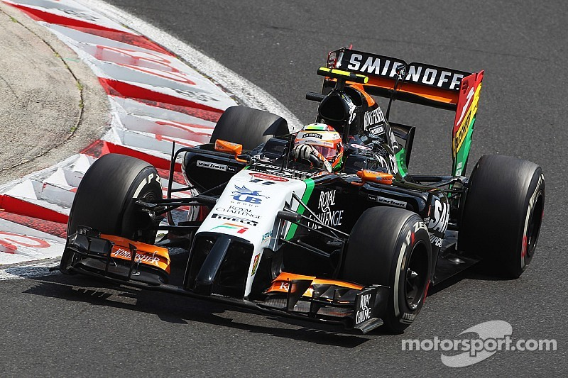 Hulkenberg end the qualifying session in ninth place with Sergio Perez in P13