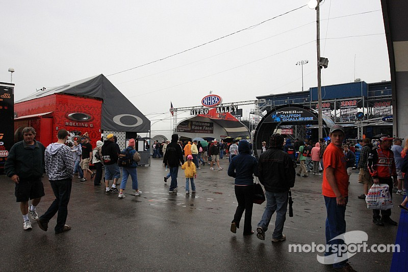 The big winner in the NHRA eliminations in Charlotte: The rain