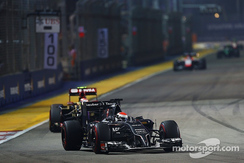 Neither of the Sauber drivers finished the race at Marina Bay Street Circuit