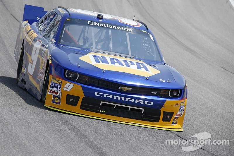 Chase Elliott earns the pole for the Nationwide race at Charlotte