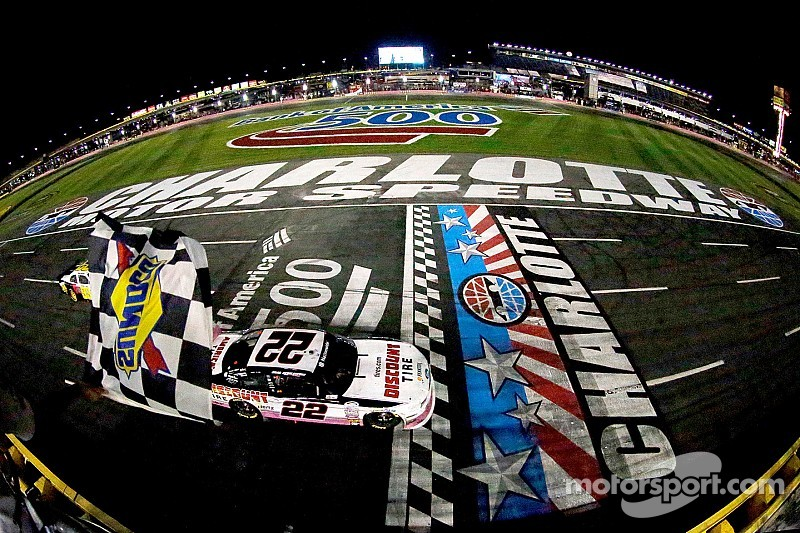 Keselowski comes back from tire failure to win at Charlotte