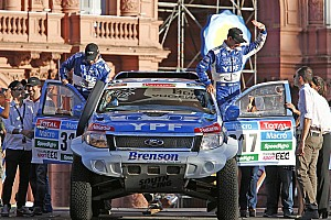 Dakar Race report Villagra and Memi achieve target and bring Ford Ranger to Dakar finish In Buenos Aires
