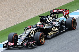 Formula 1 Interview Maldonado pleased with solid first day for new Lotus E23