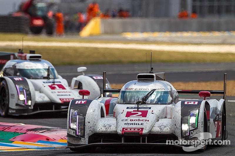 Three Audi R18 E Tron Quattro Cars At Le Mans