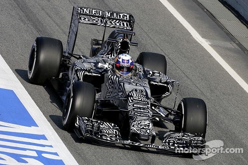 Ricciardo records the day's quickest lap in Barcelona