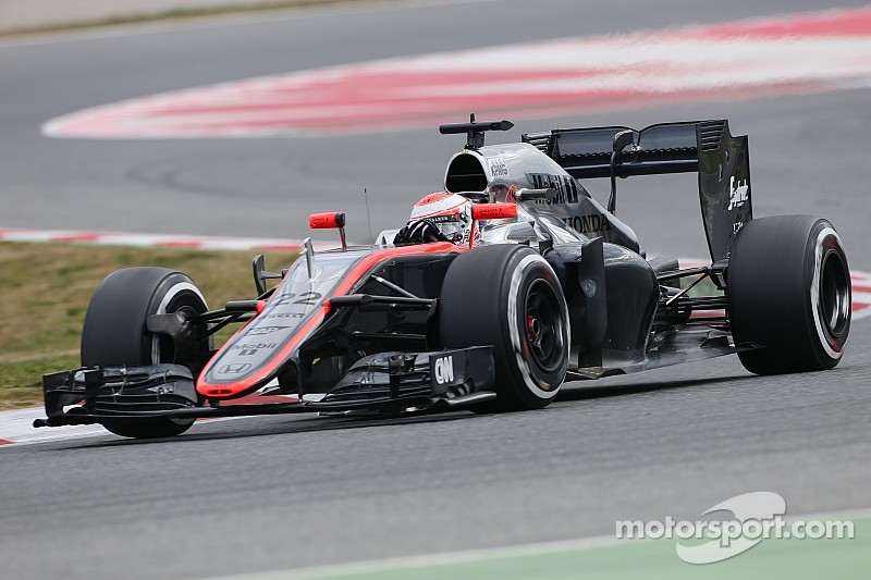 Just seven laps for Button on test day one at Barcelona