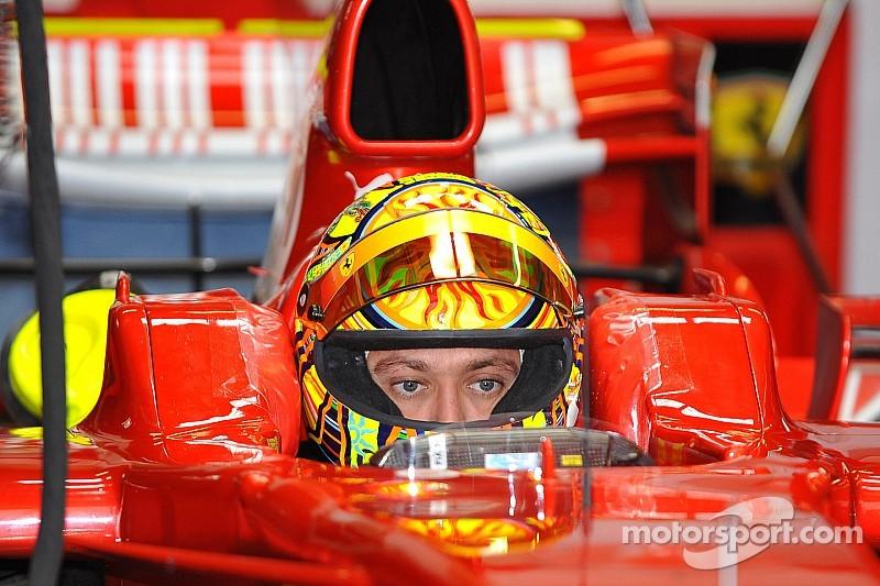 Valentino Rossi et la F1: le premier test Ferrari du Champion MotoGP