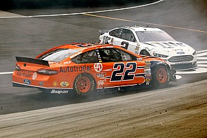 NASCAR Cup Race report Penske teammates collide as rain comes down at Bristol