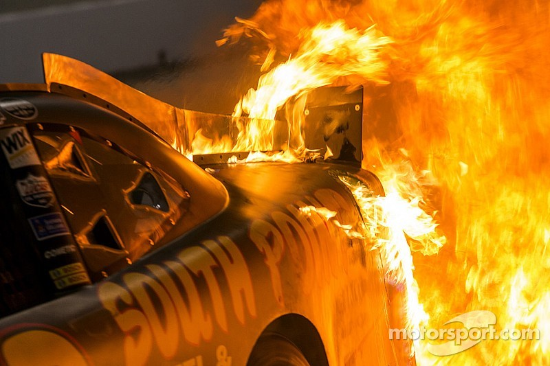 One crew member remains hospitalized after pit road fire