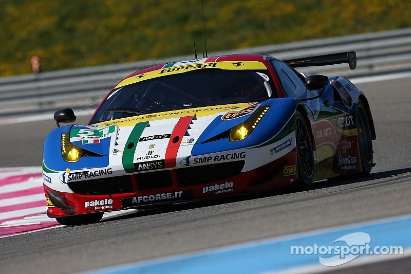 Four AF Corse Ferrari 458's Italia in the 6 Hours of Spa
