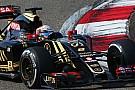 La carrosserie de Grosjean est partie en lambeaux