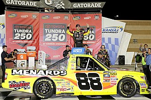 NASCAR Truck Race report Crafton conserves to win in Kansas