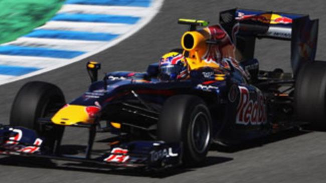 F1: Webber domina con la pista asciutta a Jerez