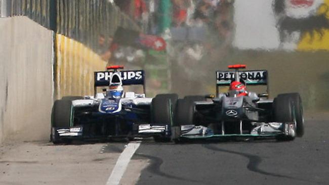 Schumi chiede scusa a Barrichello
