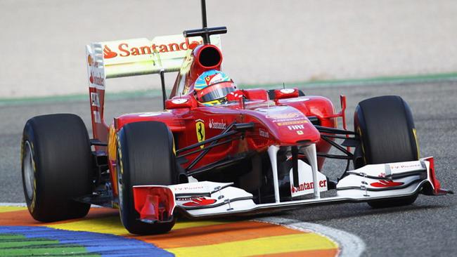 Alonso subito veloce nei test di Valencia