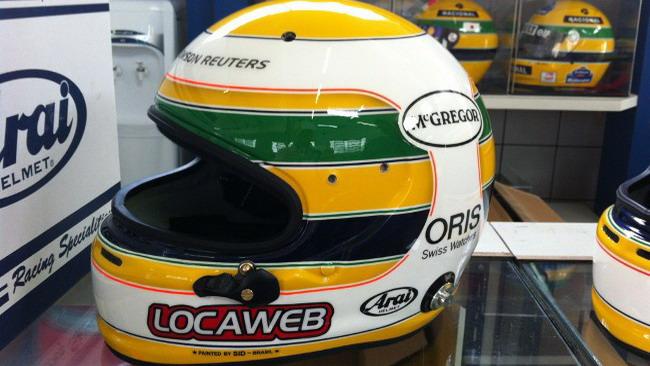 Barrichello rispolvera i colori di Senna per il Brasile
